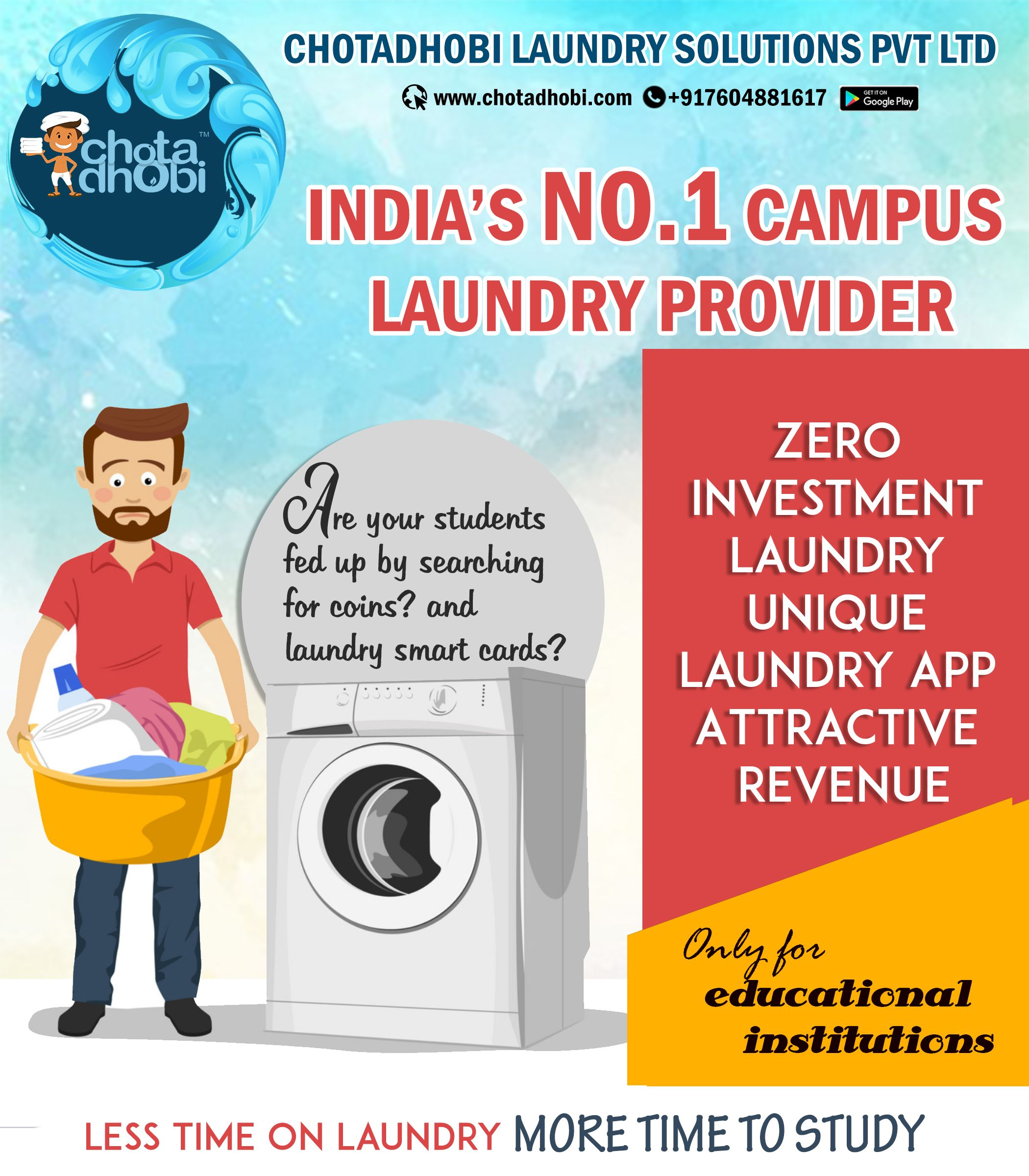 Quality Service Hygienic Washing No Mixing Of Clothes