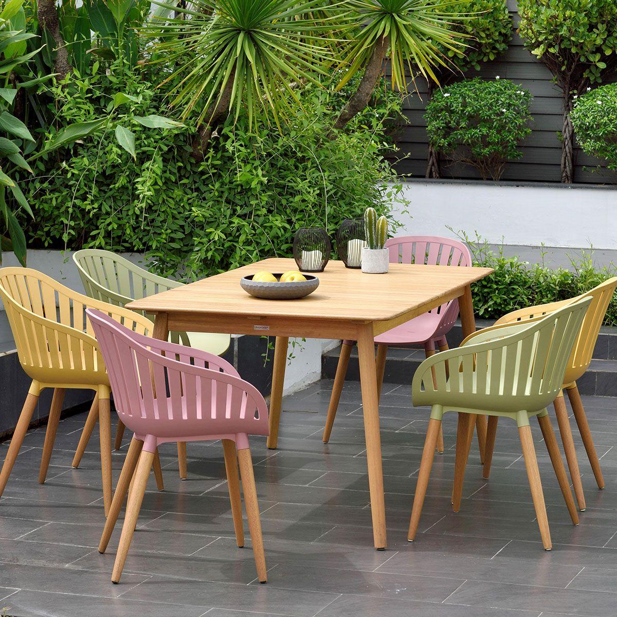 Gartensessel In Holz Kunststoff Weiss Teakfarben In 2020