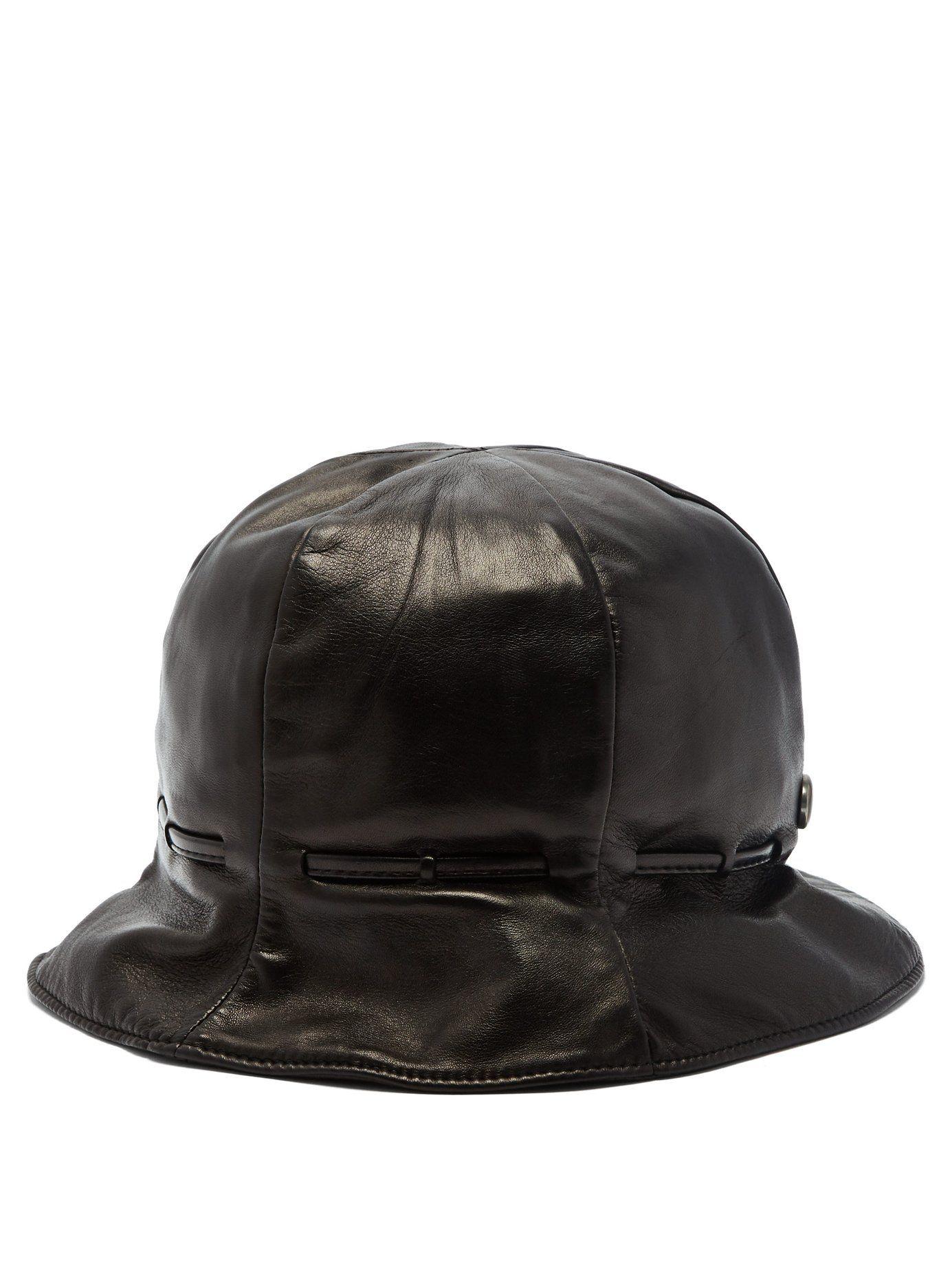Leather bucket hat  26b63931e05