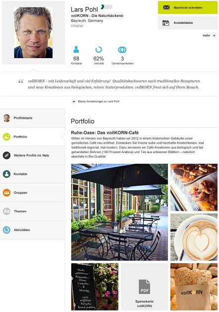 Xing Profil Portfolio Beispiel Offentlichkeitsarbeit Portfolio Profil