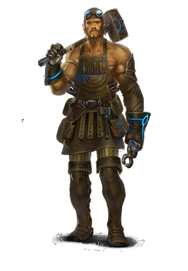 Image result for steampunk blacksmith figure