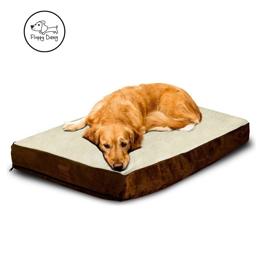 Floppy Dawg Large Dog Bed With Removable Cover And Water Resistant Liner Stuffed To 4 Inches With Memory Foam Pieces Dog Bed Large Extra Large Dog Bed Dog Bed Dog beds with removable covers