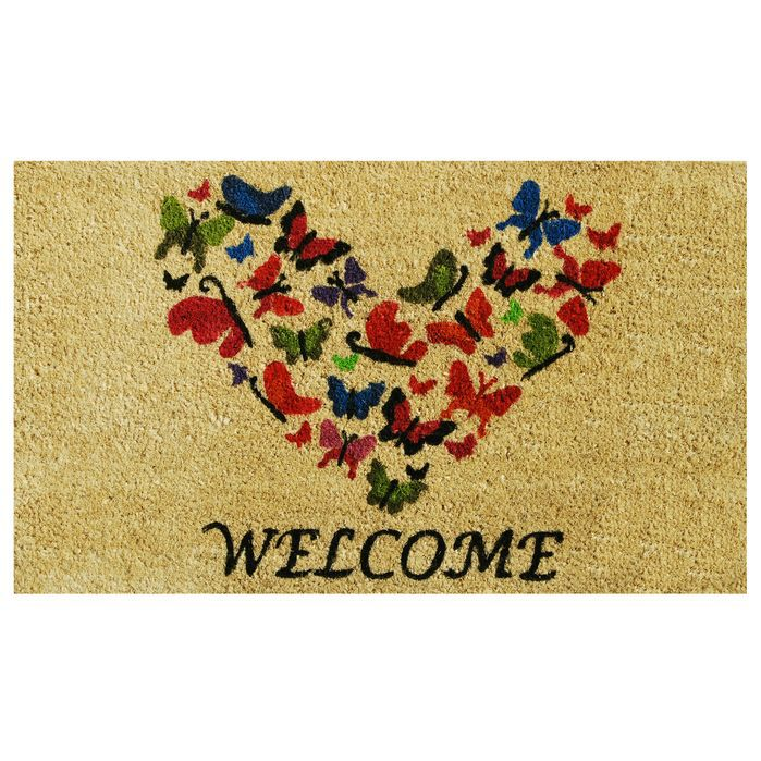 Butterfly Heart Doormat