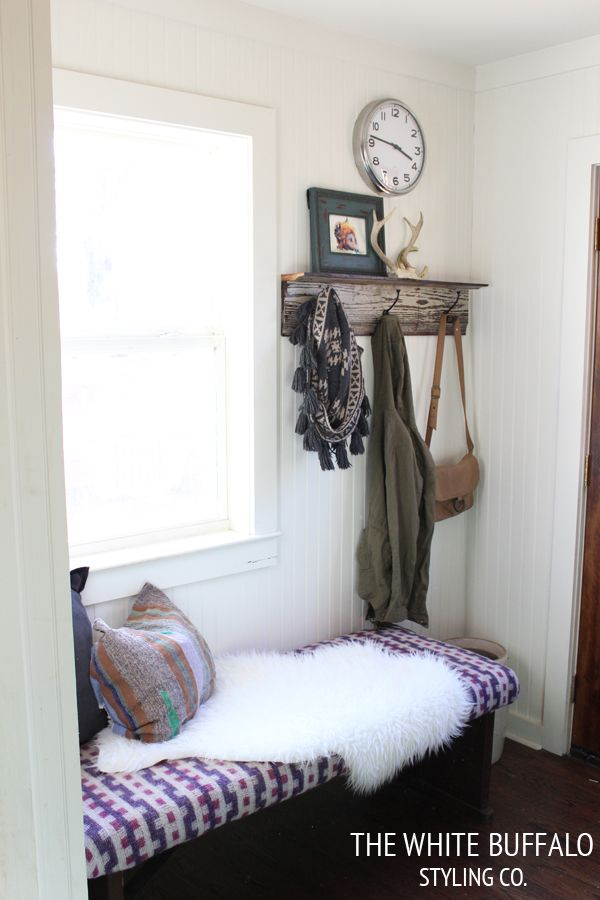 Mudroom Before & After from thewhitebuffalostylingco.com