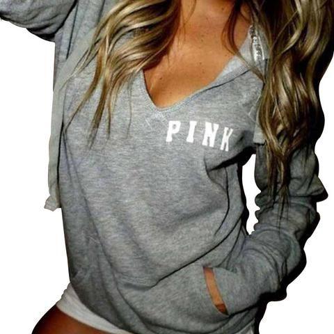 f36a87f81254 Hip Hop Pink Sweatshirt Bts Autumn Casual Pullovers Women Gray ...