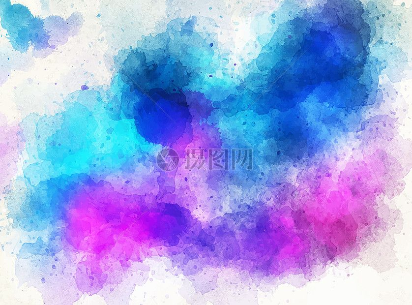 Hand Painted Watercolor Color Ink Background Abstract