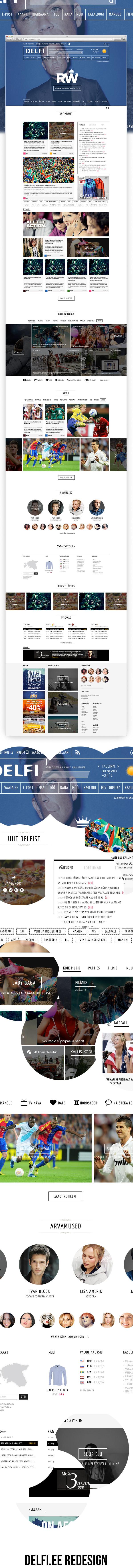 Delfi News Portal Redesign by VITALI ZAKHAROFF, via Behance