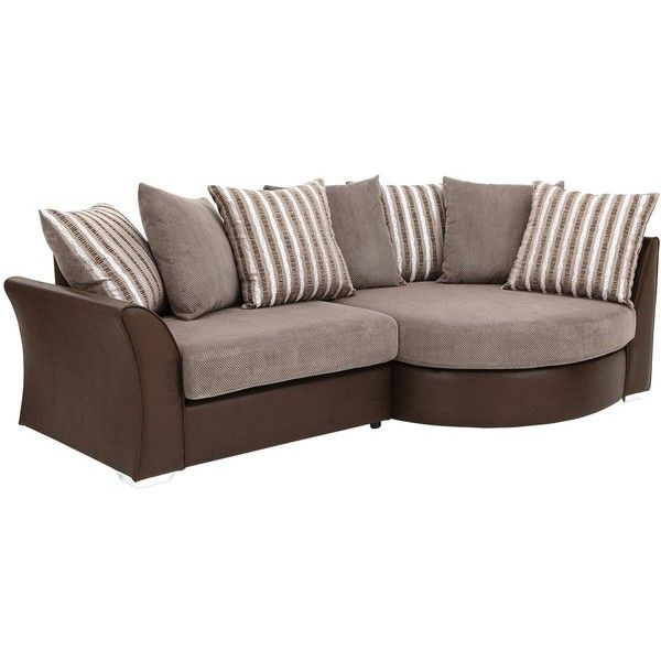 Curve Right Hand Chaise Sofa Featuring Polyvore, Home, Furniture, Sofas,  Pillow