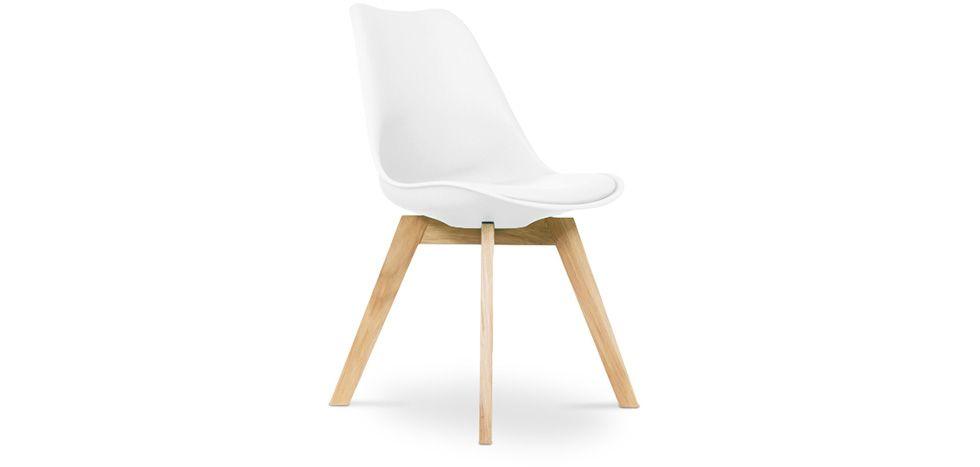 Chaise dsw avec coussin design scandinave inspiration Chaise inspiration eames