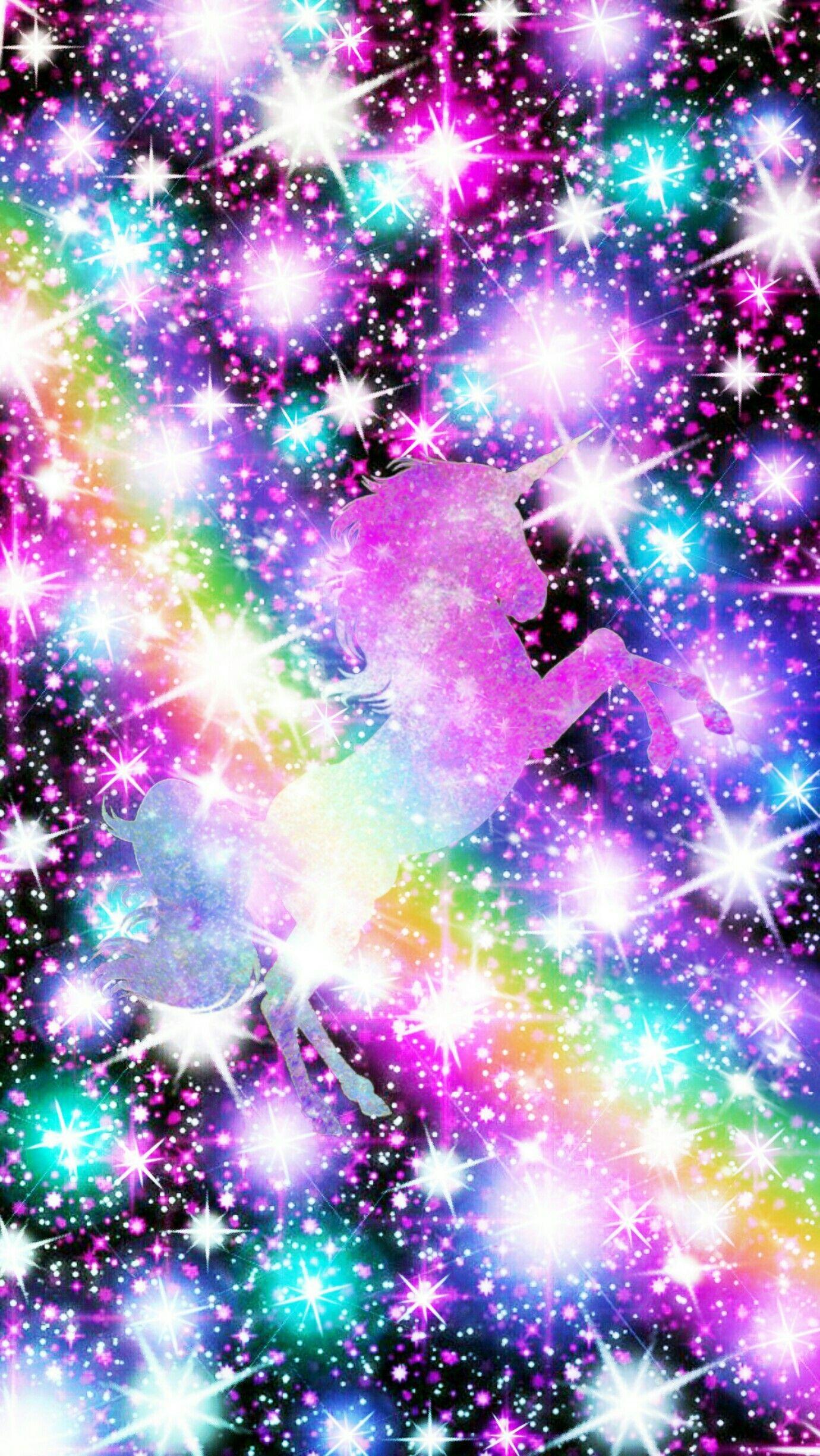 Glitter Galaxy Unicorn Sparkle Glitter Unicorn Wallpaper Novocom Top