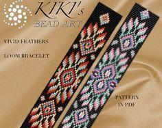 Bead loom pattern Intense mood LOOM bracelet PDF door KikisBeadArts