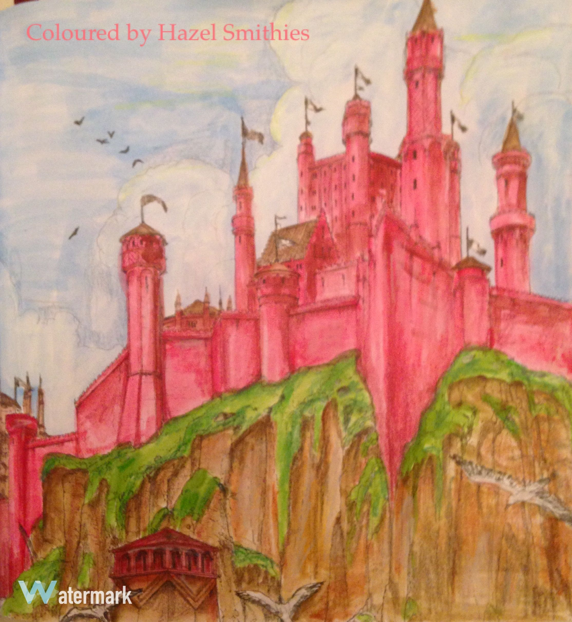 The Red Keep From Game Of Thrones In Windsor And Newton Watercolour Paints Prismacolor Premier