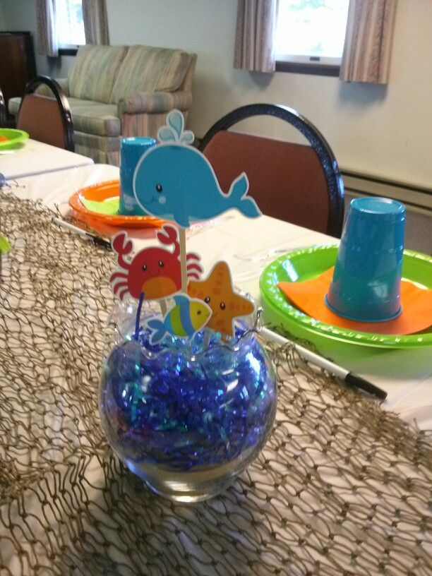 sea life baby shower decorations