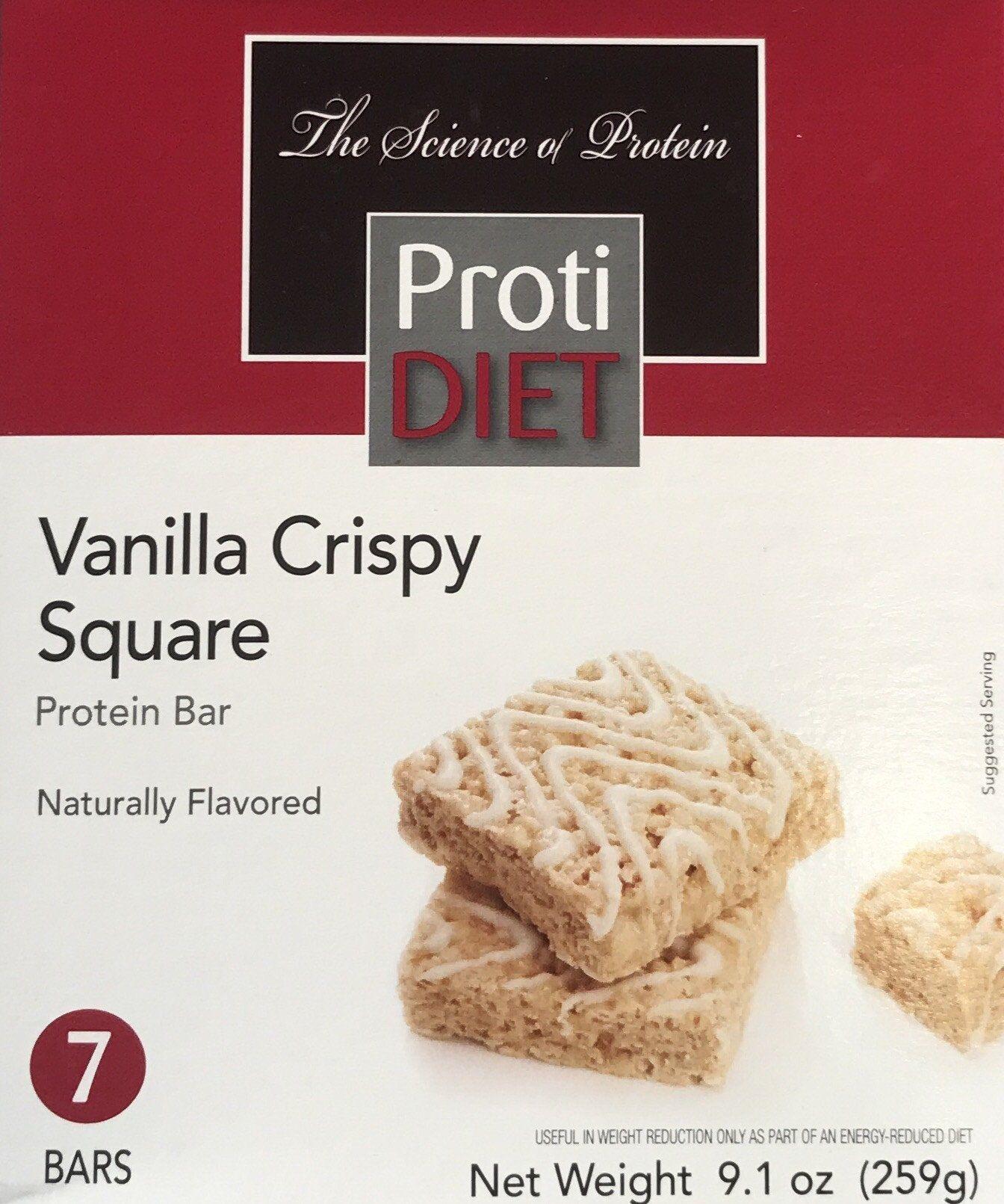 Protidiet Vanilla Crispy Square Products Pinterest Vanilla