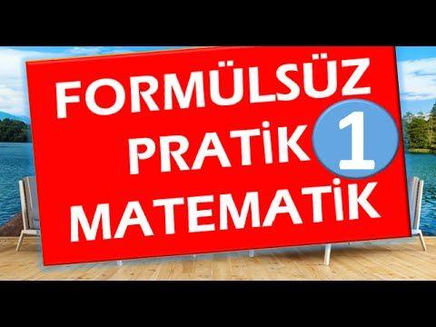 1matematik Formülsüz Soru çözüm Hileleri 1abdül Aziz Gürbüzpratik