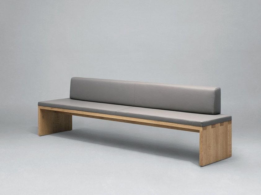 Teilgepolsterte Sitzbank Aus Holz Mit Rucken Sc02 Gepolsterte