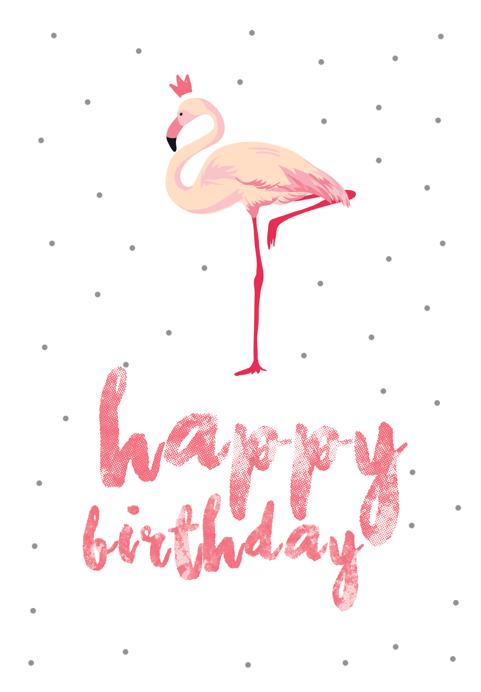 Flamingo birthday Free Printable Birthday Card Greetings Island