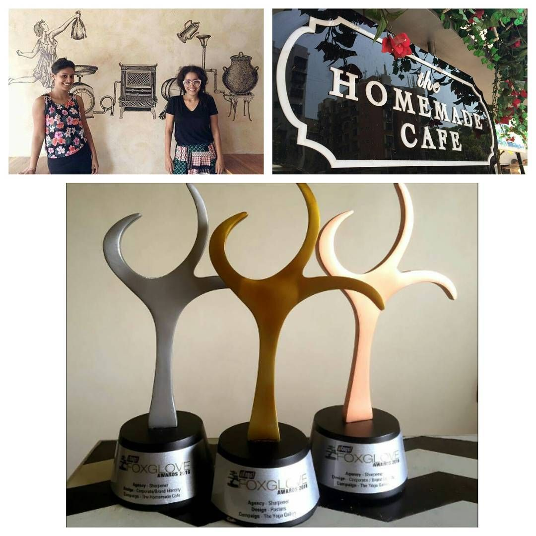 """Proud moment ....... when our graphic  designers get an award for the hard work they put in to make """"the homemade cafe""""  @sharpe"""