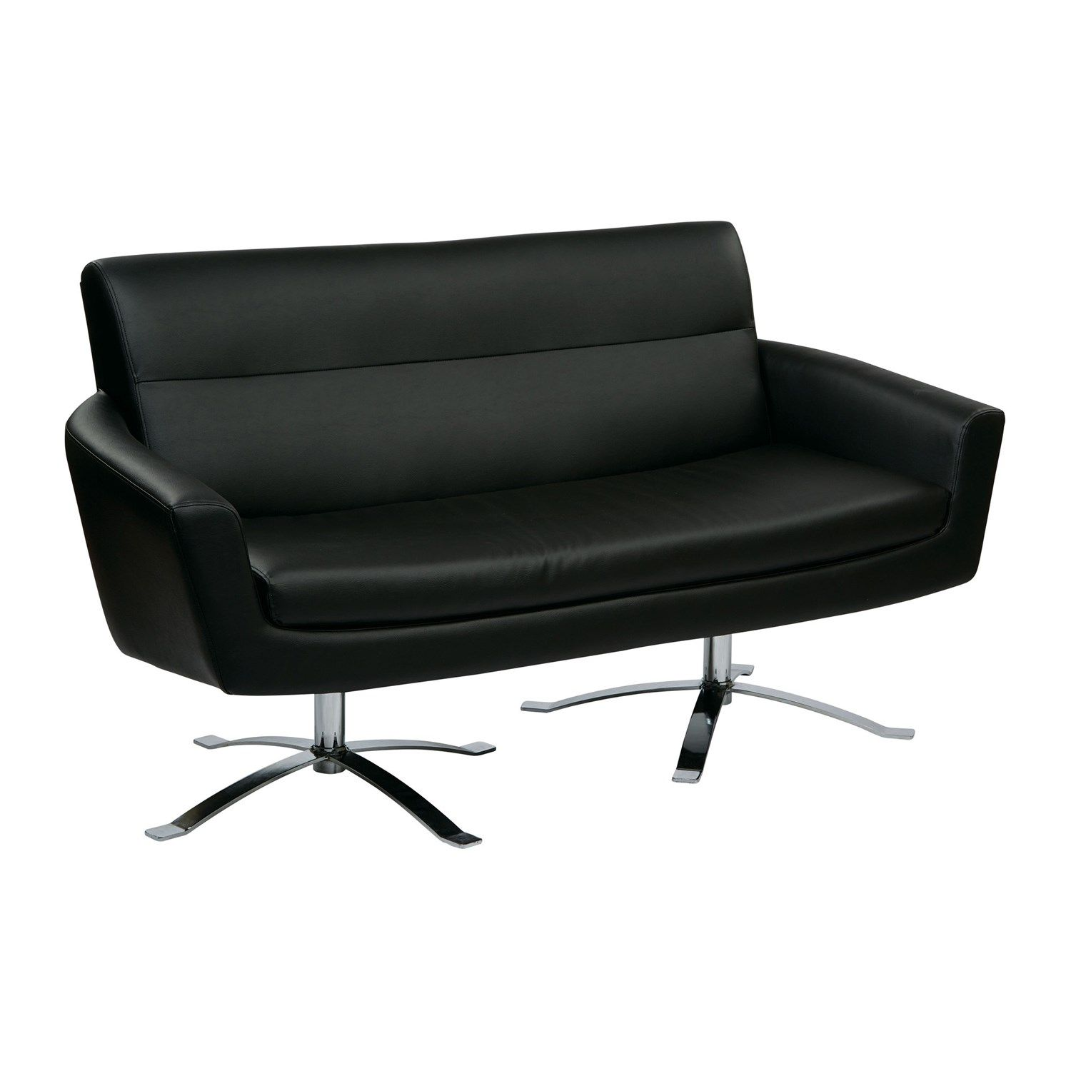 Genial Office Star NVA52 Nova Faux Leather Loveseat