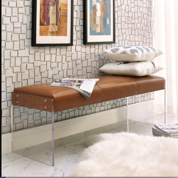 Http://colemanfurniture.com/envy Leather Acrylic Bench.