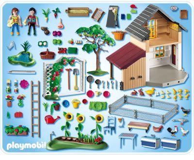 Playmobil maison des fermiers et march univers for Playmobil pferde set