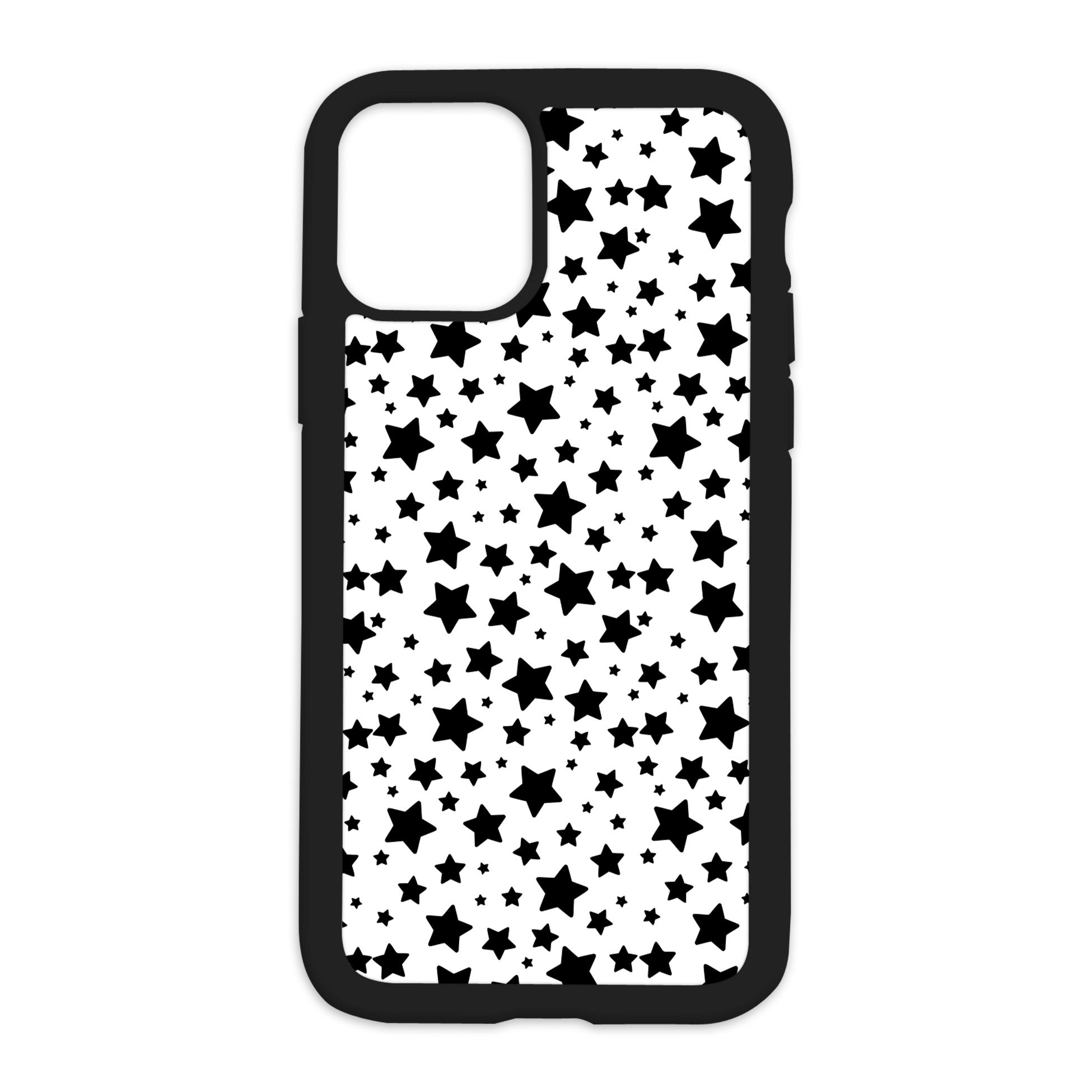 Stars Pattern Design On Black Phone Case - 7/8+ / Black