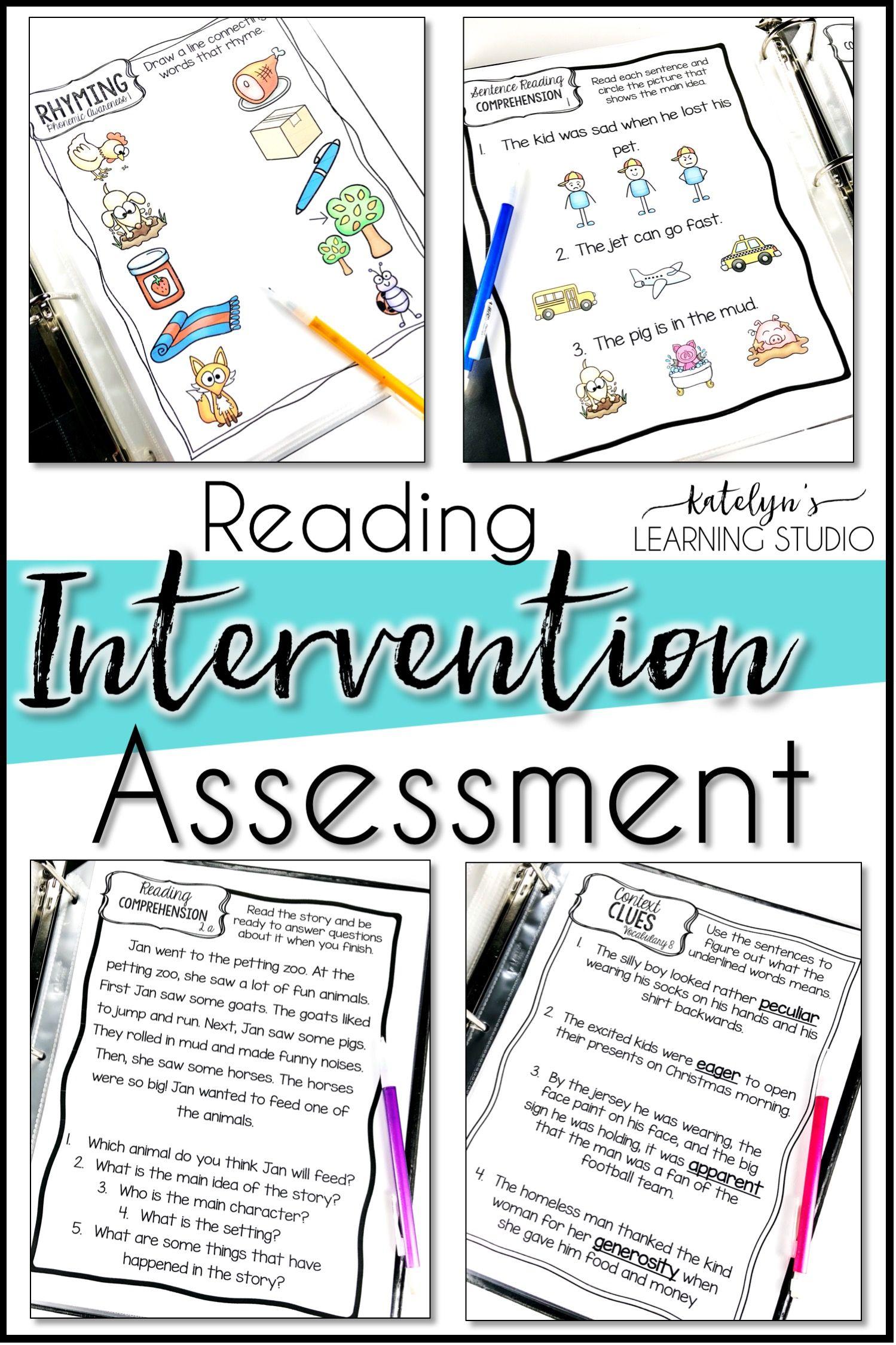 Diagnostic formative reading assessment for kindergarten, 1st, 2nd ...