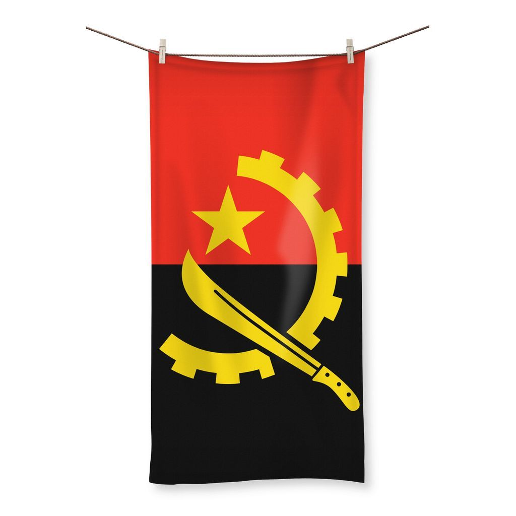 Angola Flag Beach Towel Independence Day Images Angola Flag Independence Day
