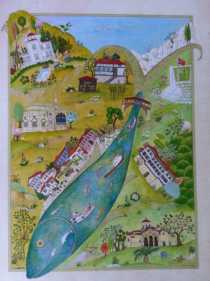 Sengul Duzenli Trabzon Minyaturu Tablolar Sanat Evleri Sanat