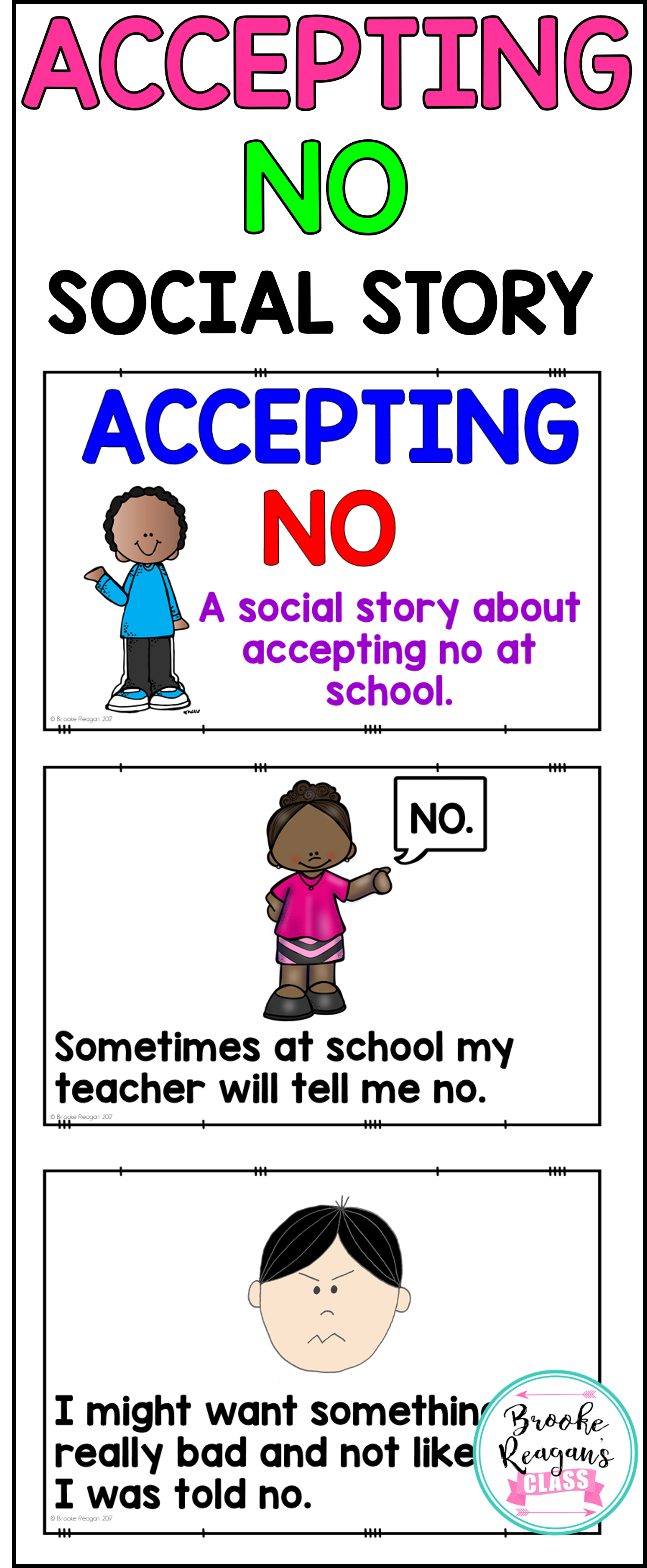 Social Stories Accepting No School Pinterest Special