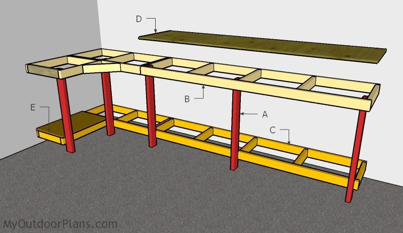 Garage Workbench Plans Garage Work Bench Building A Workbench