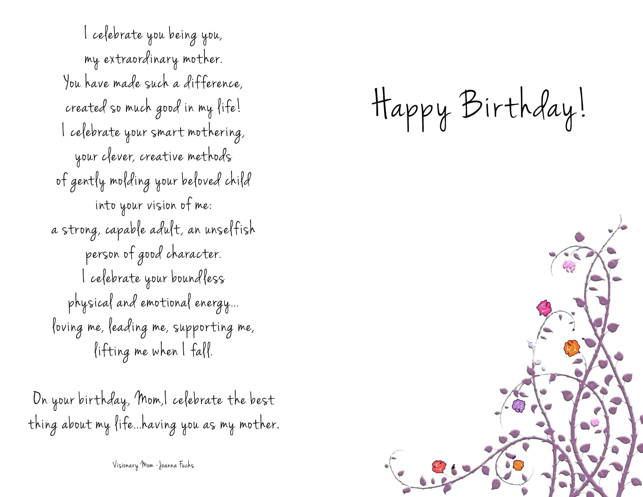 Happy Birthday Mom Coloring Cards - Navajosheet.co Within ...