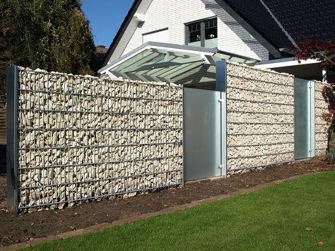 Gabionen - Sichtschutz - Zaun-  Torsysteme Hot Garden Art