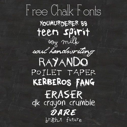 freebie: mini chalkboards & free chalk fonts by cesstrelle July 20 ...