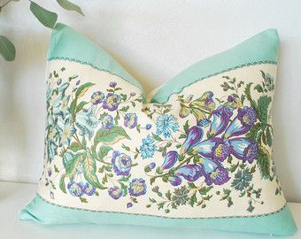 """Items similar to SALE 25% OFF! Ready to Ship! Shabby Chic Pillow Cover Chenille With Ribbon Vintage 12""""x16"""" on Etsy"""