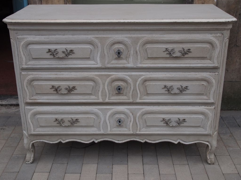 French Louis xv painted commode Painted by B Hubert