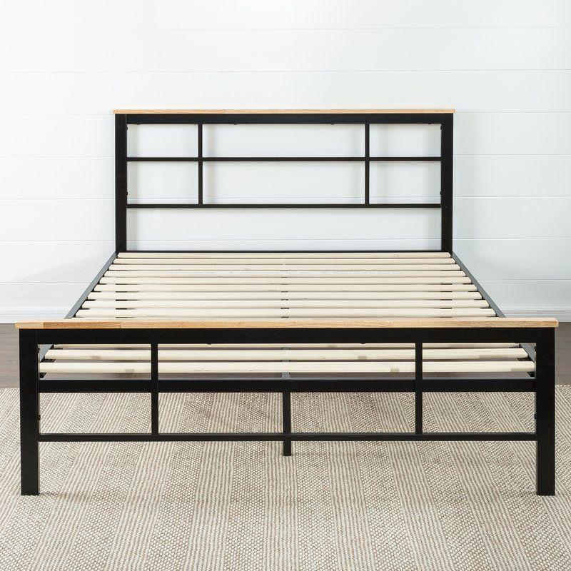 Ferrill Platform Bed Wood platform bed, Metal platform