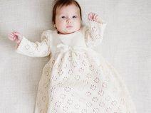 Langes Taufkleid Baby Kleid Taufe Hochzeit Taufe