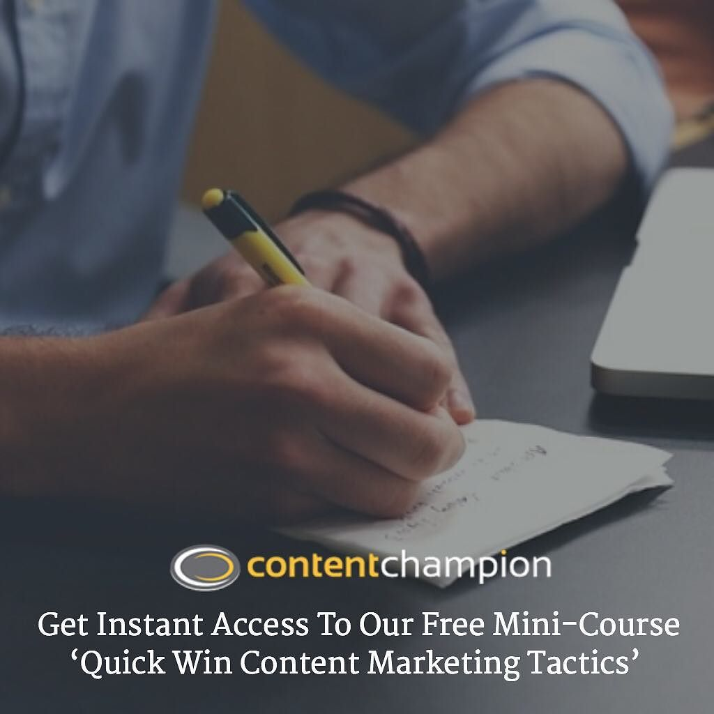 Get Instant Access To Our Free Mini-Course Quick Win Content Marketing Tactics ($27 Value) http://bit.ly/1MxPatN