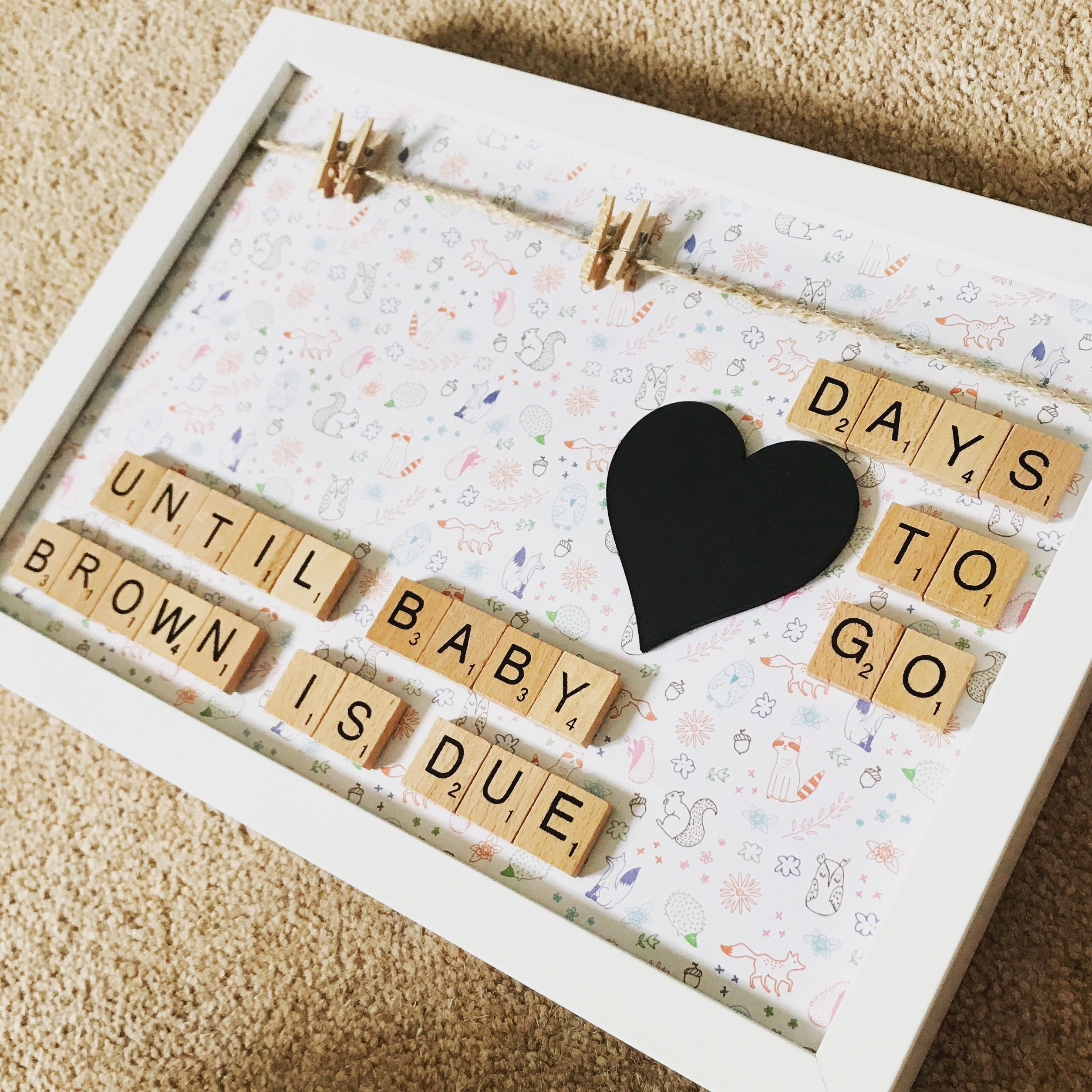 Pregnancy countdown- pregnancy announcement- pregnancy scan picture ...