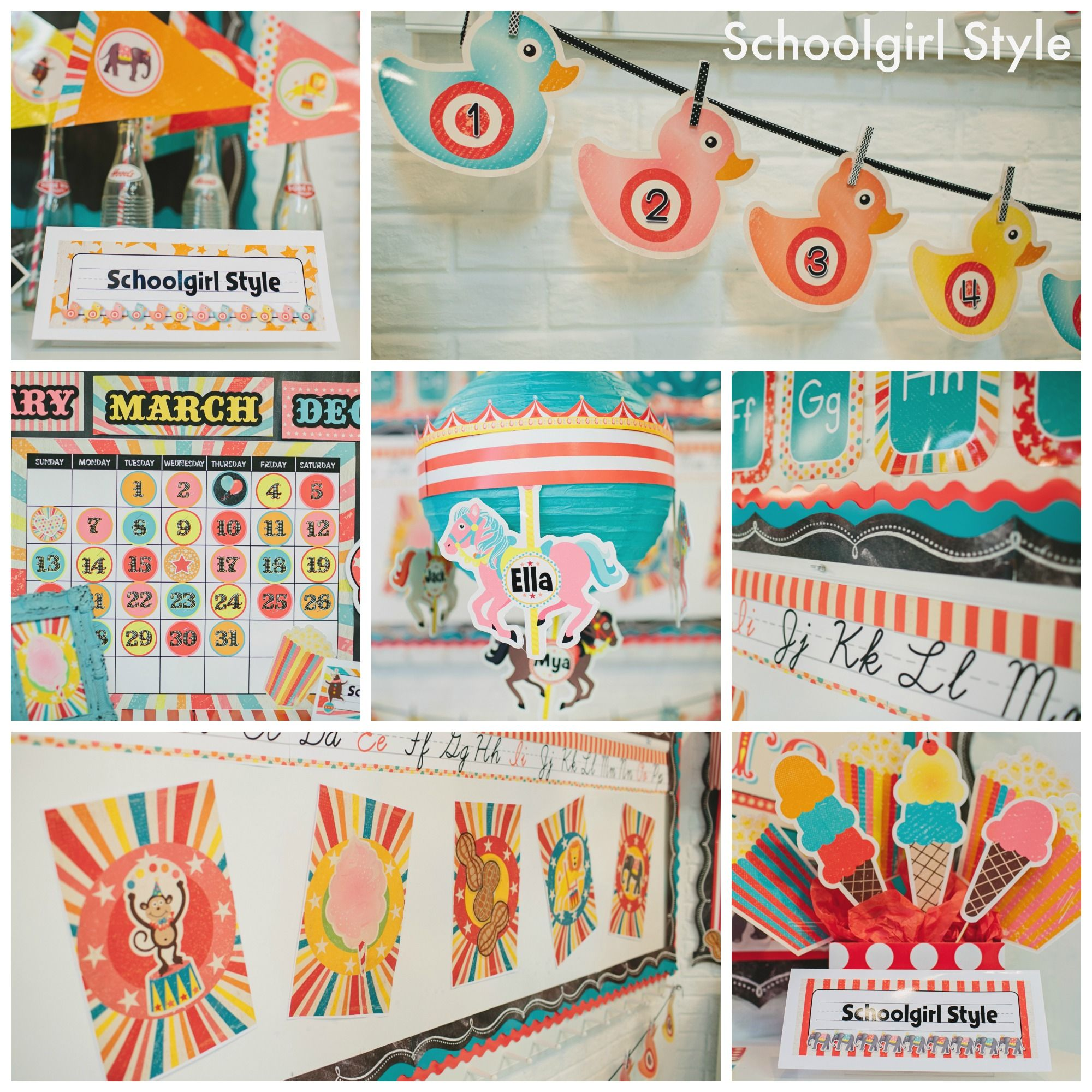 Beautiful Classroom Decoration Theme Ideas Part - 13: Schoolgirl Style Vintage Circus Classroom Decor