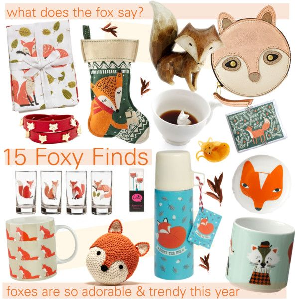 Fox Home Decor Adorable Fox Gift Guide By Cutandpaste On Polyvore