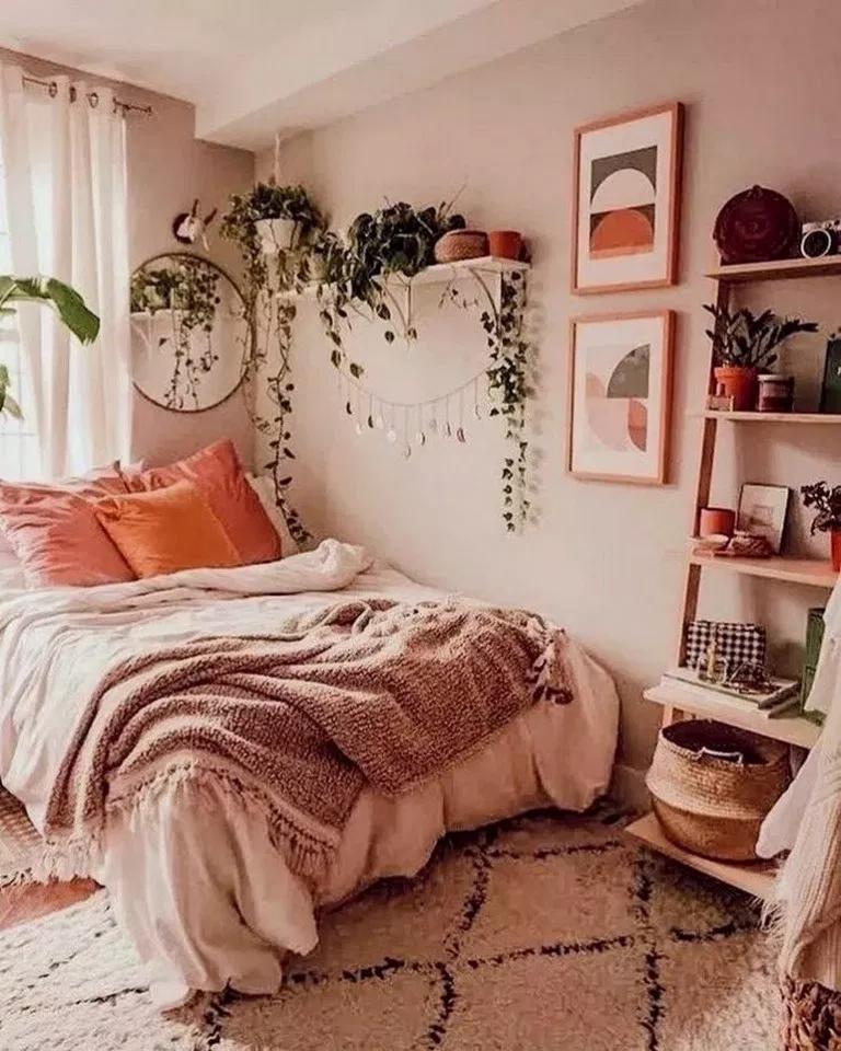 34+ Bequeme schöne Schlafzimmer-Designs für kleine Raumideen #smallbedroom #bedroomd ... #roominspo