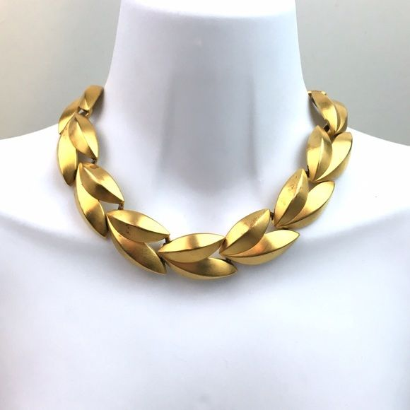 Givenchy Vintage Gold Leaves Necklace