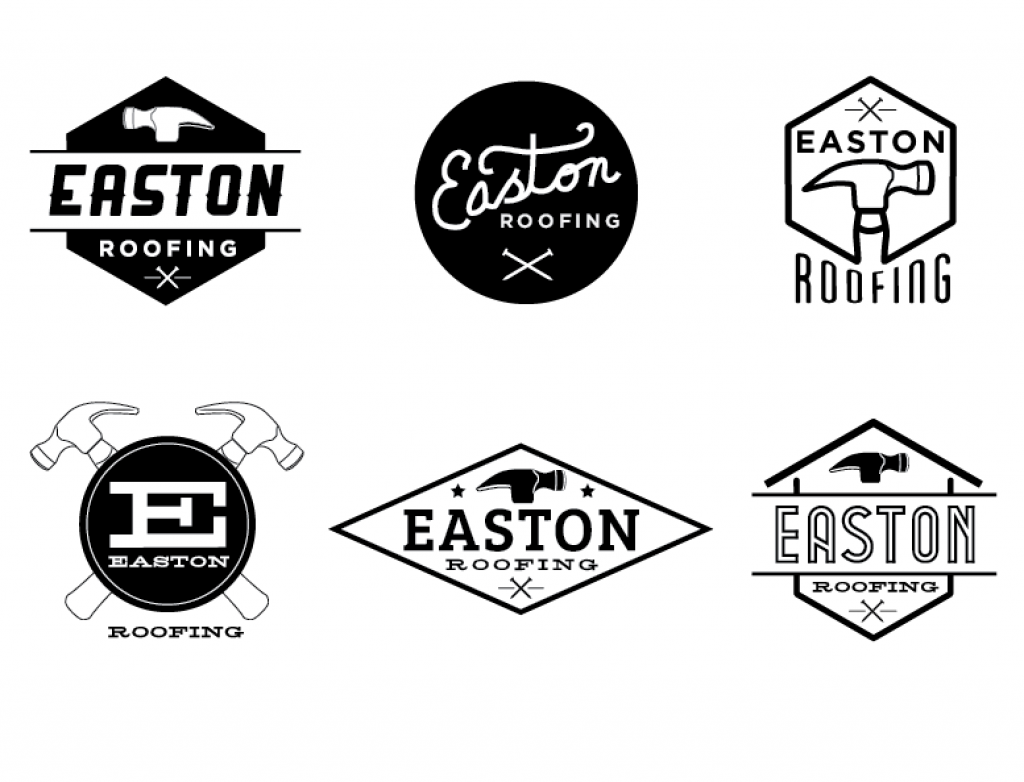 Easton Roofing logo The Visual Organization Roofing logo