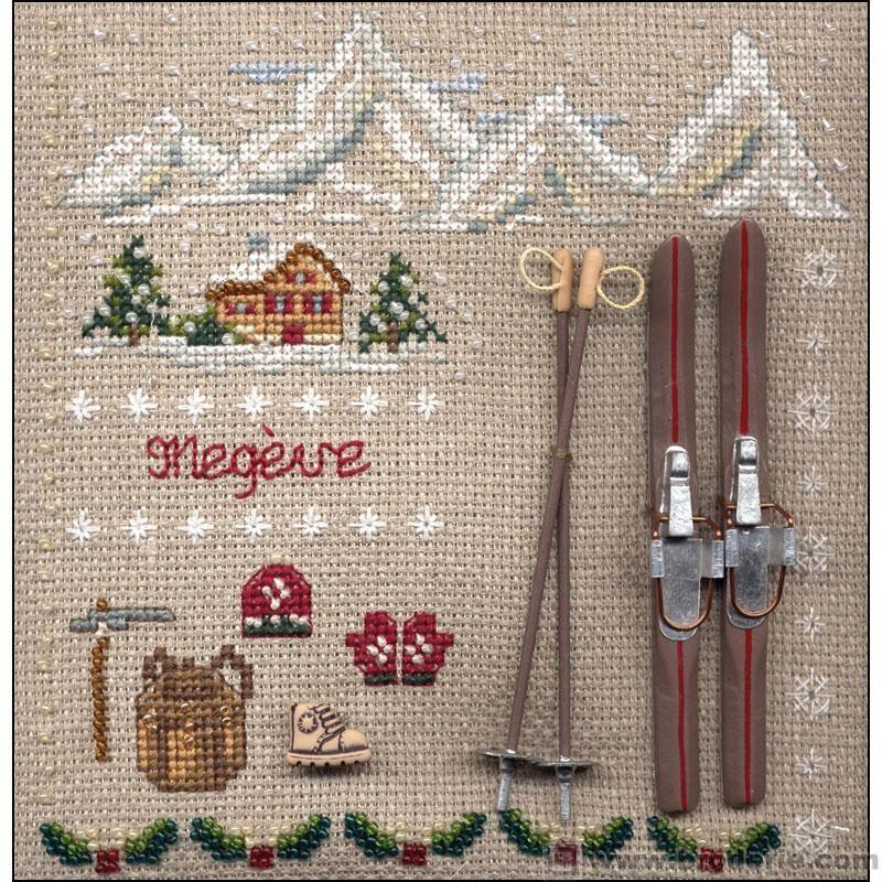 grille broderie montagne 16 | Kit point de croix, Point de croix, La maison du canevas