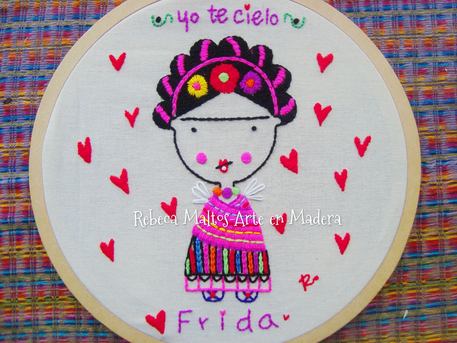 Frida Kahlo | Bordado mexicano | Pinterest