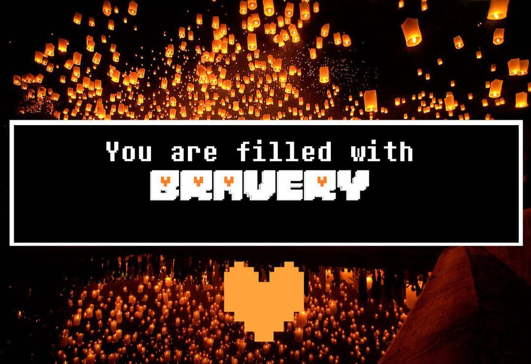 Bravery Wallpaper By Luxkirigaya Undertale Souls Undertale Undertale Fanart