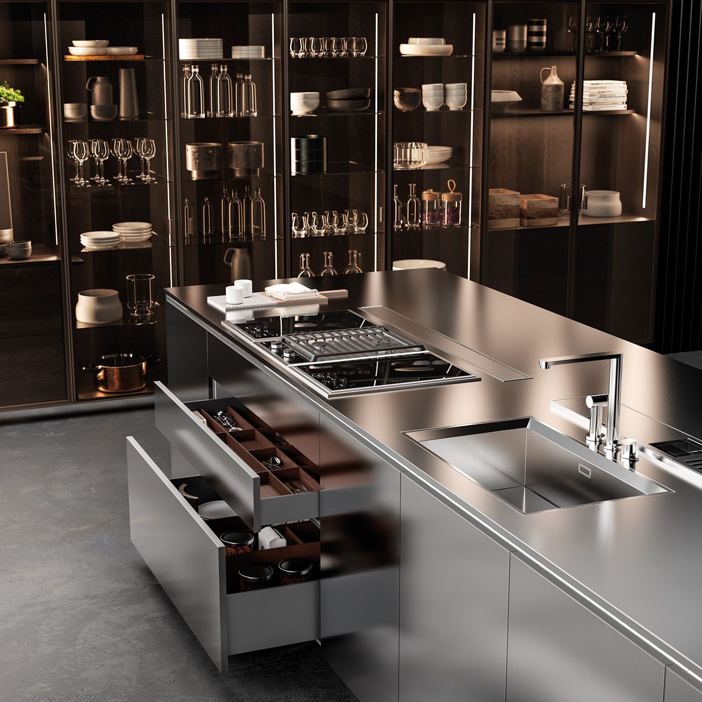 Kitchen Pantry Lighting: Innenarchitektur Küche, Küchendesign, Offene