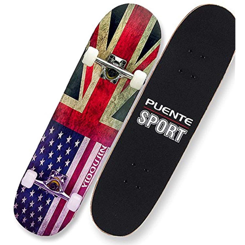 Complete standard skateboardmade of maple wood suitable